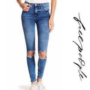 FREE PEOPLE Distressed Busted Skinny Jeans 31L
